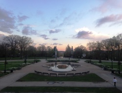 Highland Park is vibrant all day throughout the gardens, but visit at sundown for an extra special splash of color.