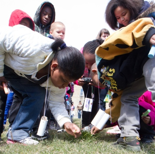 Kids get up close and personal with the outdoors at last year's Nature in Your Neighborhood hike.