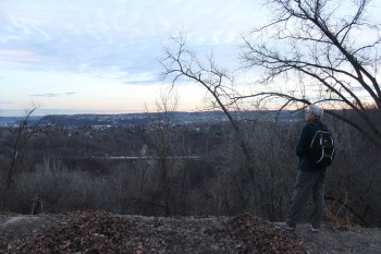At the end of a long day of birding, the author ponders Pittsburgh's changeless landscape. Photo credit: Frank Izaguirre.